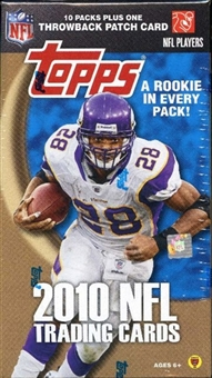 2010 Topps Football 10-Pack Box