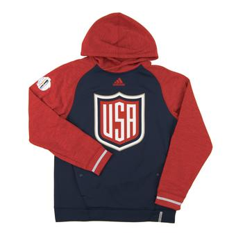 Team USA World Cup Adidas Navy & Red Climalite Performance Hoodie (Adult X-Large)