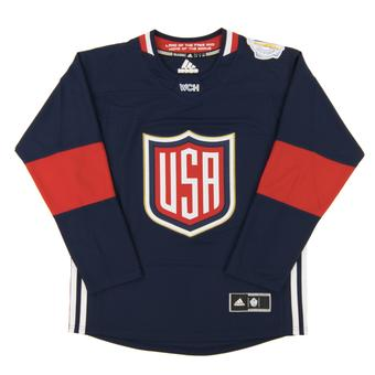 Team USA World Cup Adidas Navy Premier Hockey Jersey