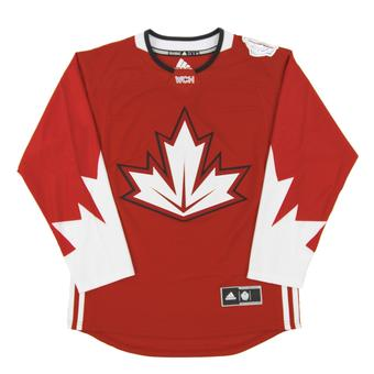 Team Canada World Cup Adidas Red Premier Hockey Jersey (Adult X-Large)