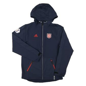 Team USA World Cup Adidas Navy Climalite Performance Full Zip Hooded Jacket (Adult Large)