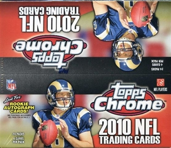 2010 Topps Chrome Football 24-Pack Box