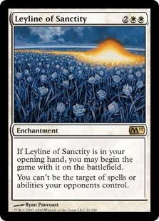 Magic the Gathering 2011 Single Leyline of Sanctity UNPLAYED (NM/MT)