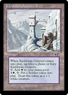 Magic the Gathering Alliances Single Kjeldoran Outpost LIGHT PLAY (NM)