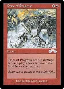 Magic the Gathering Exodus Single Price of Progress UNPLAYED (NM/MT)