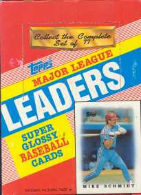 1988 Topps League Leaders (minis) Baseball Wax Box