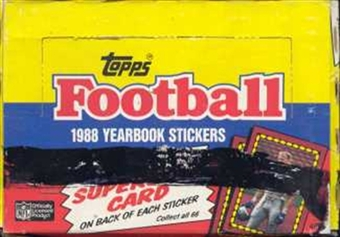 1988 Topps Stickers Football Wax Box