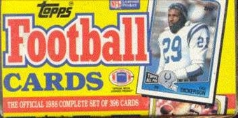1988 Topps Football Factory Set (Christmas Box)