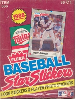 1988 Fleer Star Stickers Baseball Wax Box