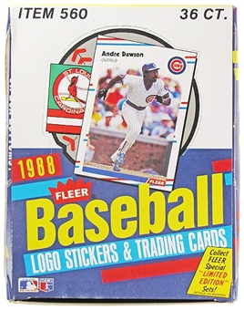 1988 Fleer Baseball Wax Box