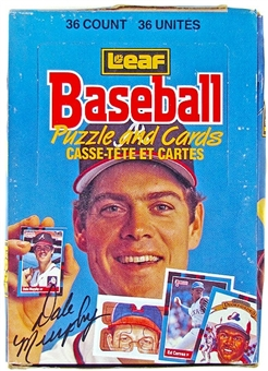 1988 Leaf Baseball Wax Box