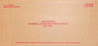 1988 Score Baseball Rack 3-Box Case