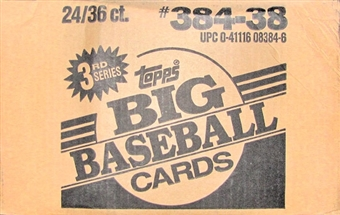 1988 Topps Big Series 3 Baseball Wax 24-Box Case