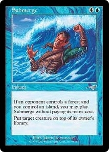 Magic the Gathering Nemesis Single Submerge Foil