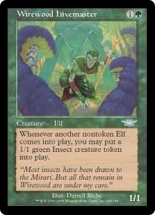 Magic the Gathering Legions Single Wirewood Hivemaster Foil
