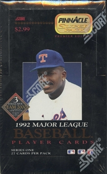 1992 Pinnacle Series 1 Baseball Jumbo Box