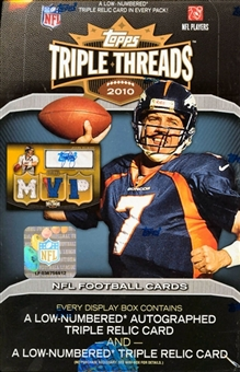 2010 Topps Triple Threads Football Hobby 9-box Case- DACW Live 32 Spot Random Team Break