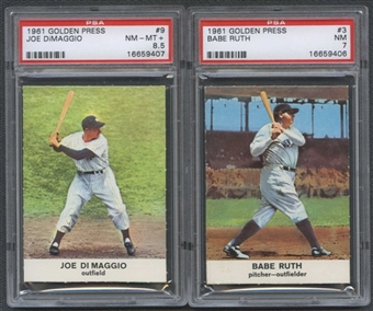 1961 Golden Press Baseball Complete Set (EX-MT)
