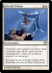 Magic the Gathering Champs of Kamigawa Single Ghostly Prison - NEAR MINT (NM)