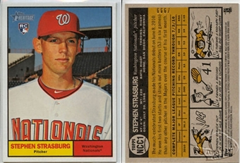 2010 Topps Heritage Strasburg National Convention #NCC1 Stephen Strasburg /999