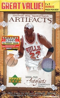 2007/08 Upper Deck Artifacts Basketball 8-Pack Box