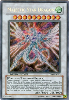 Yu-Gi-Oh Limited Edition Tin Single Majestic Star Dragon Secret Rare (CT06-EN003