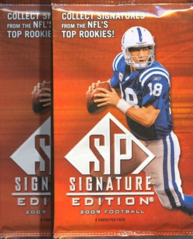 2009 Upper Deck SP Signature Edition Football Retail Pack (Lot of 2)