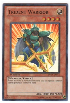 Yu-Gi-Oh Duelist Revolution Single Trident Warrior Super Rare (DREV-EN015)