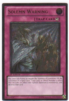 Yu-Gi-Oh Duelist Revolution Single Solemn Warning Ultimate Rare (DREV-EN077)