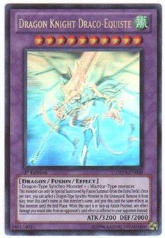 Yu-Gi-Oh Duelist Revolution Single Dragon Knight Draco-Equiste Ghost Rare