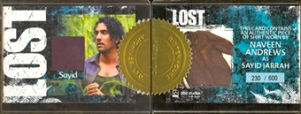 2010 Lost Archives Costumes #7 Naveen Andrews as Sayid Jarrah /600