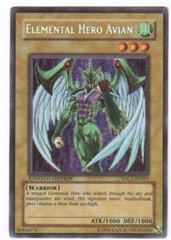 Yu-Gi-Oh Promo Single Elemental Hero Avian Secret Rare (EHC1-EN001) - SLIGHT PLAY (SP)