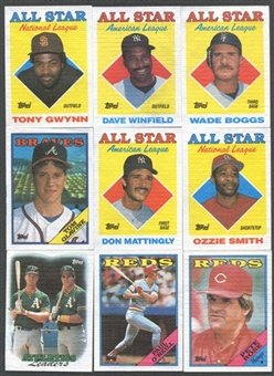 1988 Topps Cloth Baseball Complete Set (Test Issue)