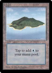 Magic the Gathering Beta Single Island (Ver 2) UNPLAYED (NM/MT)