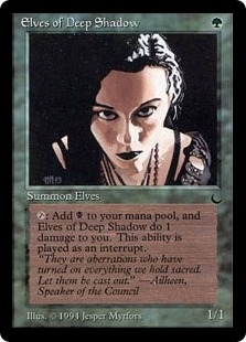 Magic the Gathering Dark Single Elves of Deep Shadow - SLIGHT PLAY (SP)