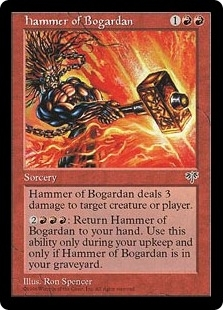 Magic the Gathering Mirage Single Hammer of Bogardan LIGHT PLAY (NM)