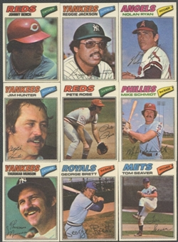 1977 Topps Cloth Stickers Baseball Complete Set (NM-MT)