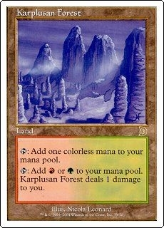 Magic the Gathering Ice Age Single Karplusan Forest  (Deckmaster) - NEAR MINT (NM)