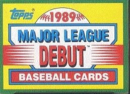 1989 Topps Lajor League Debut Baseball Factory Set
