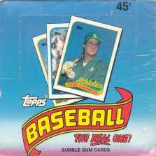 1989 Topps Baseball Test Issue Box