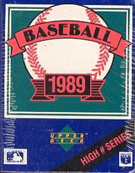 1989 Upper Deck High # Baseball Factory Set
