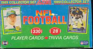 1989 Score Football Factory 24 Set Case