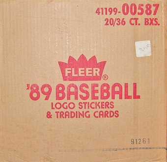 1989 Fleer Baseball Wax 20-Box Case