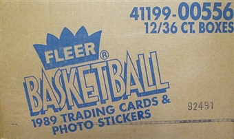 1989/90 Fleer Basketball Wax 12-Box Case