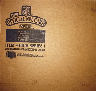 1989 Pro Set Series 1 Football 20 Box Wax Case