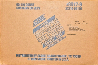 1989 Score Baseball Rookie & Traded Set Case