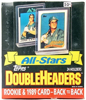 1989 Topps All-Star Doubleheader Baseball Wax Box