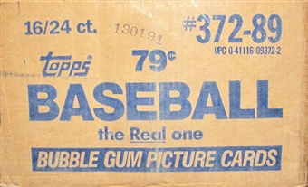 1989 Topps Baseball Cello 16-Box Case