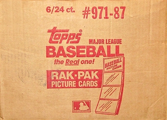 1987 Topps Baseball Rack 6-Box Case