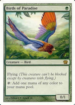 Magic the Gathering 8th Edition Single Birds of Paradise UNPLAYED (NM/MT)